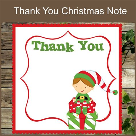 christmas thank you note printable christmas stationery