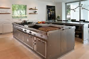 stainless steel islands kitchen stainless steel kitchen with island miami by officine gullo