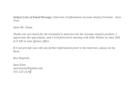 interview confirmation email  employer top form templates  templates