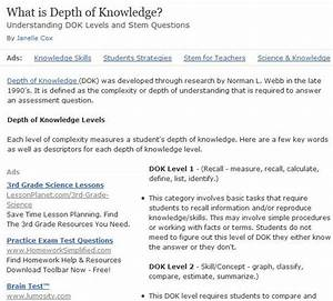 17 best images about depth of knowledge on pinterest for Dok lesson plan template