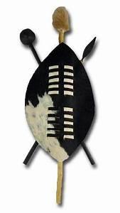 African 45 cm Zulu warrior shield