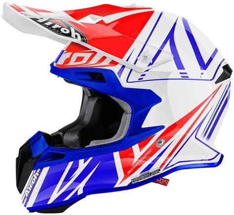 airoh motocross helmet airoh terminator 2 1 cut motocross helmet white blue