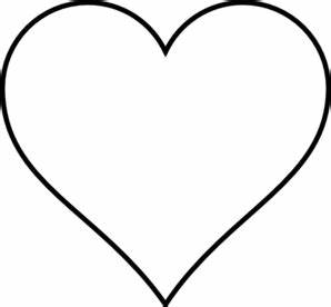 Black Outline Heart Clip Art at Clker.com - vector clip ...