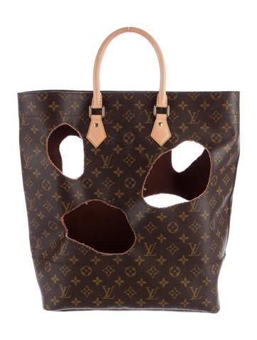 louis vuitton rei kawakubo monogram bag  holes bags lou  realreal