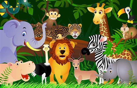 jungle animals wallpaper wall mural muralswallpapercouk