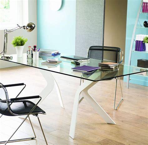 bureau metal verre bureau design en verre et métal cize piètement coloris