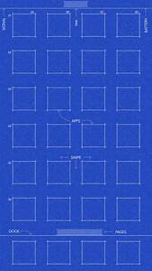 Grid and blueprint wallpapers for iPhone