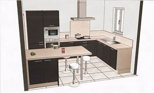 plan amenagement cuisine 10m2 estein design With amenagement de cuisine