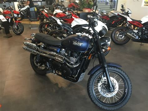 Triumph Scrambler Matte Pacific Blue Motorcycles For Sale