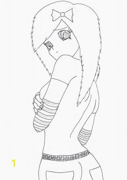 Emo Anime Drawings Coloring Pages Spirited Draw