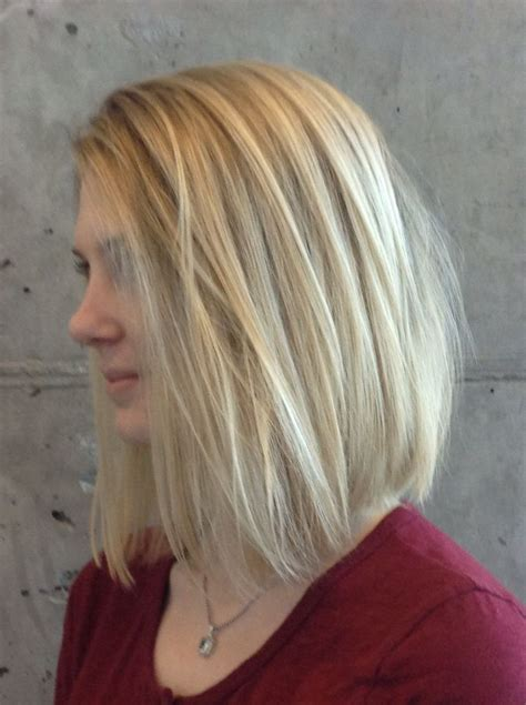 traditional highlighted blonde lob   fine hair