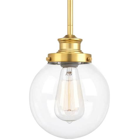 shop progress lighting penn 6 875 in brass mini