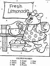 Lemonade Coloring Stand Number Pages Bear Printable Coloriage Activity Cm1 Drawing Ours sketch template