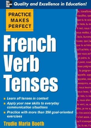 practice  perfect french verb tenses language