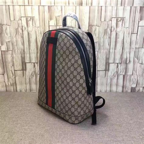 replica gucci gg supreme backpack  web   high quality