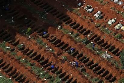 Covid Deaths Paulo Sao Brazil Dead Graves