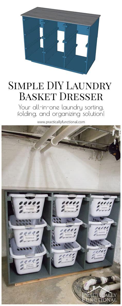 simple diy laundry basket dresser