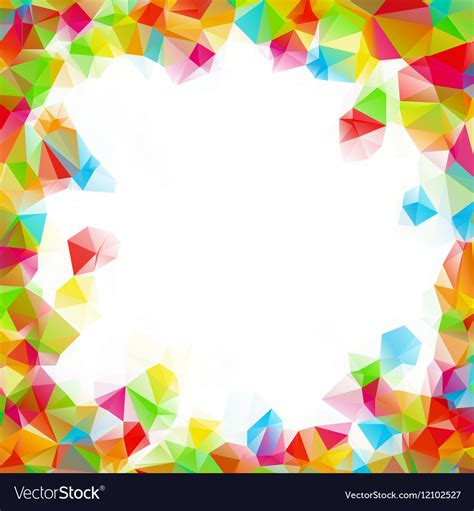 colorful picture frames colorful square polygon background or frame vector image
