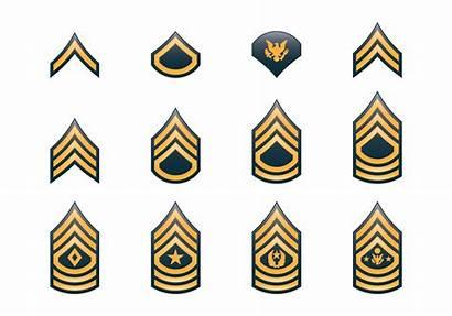Rank Army Insignia Military Vector Clip Symbol