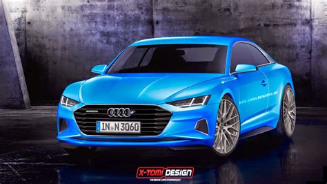 audi  rendered  production coupe based
