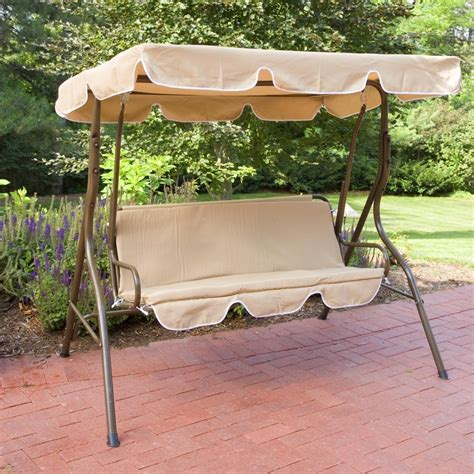 canapé swing 2 person covered patio swing w adjustable tilt canopy