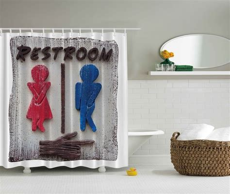 Novelty Bathroom Pictures by Novelty Graphic Shower Curtain Humorous