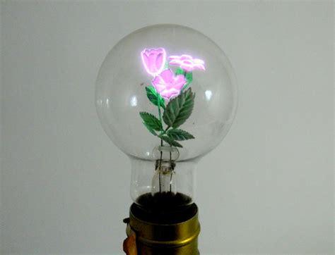 flowers in light bulbs aerolux light bulb with neon flower sculpture