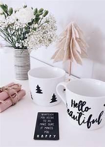 Tassen Bemalen Kinder : diy einfache weihnachtsgeschenke individuelle tassen selber gestalten diy geschenke ~ Orissabook.com Haus und Dekorationen
