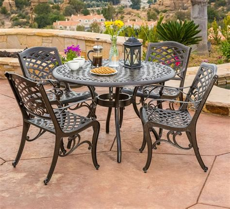 Patio Furniture Table by Patio Dining Set Traditional Outdoor Lawn Furniture Garden
