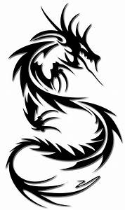 Black And White Dragon Tattoo - Cliparts.co