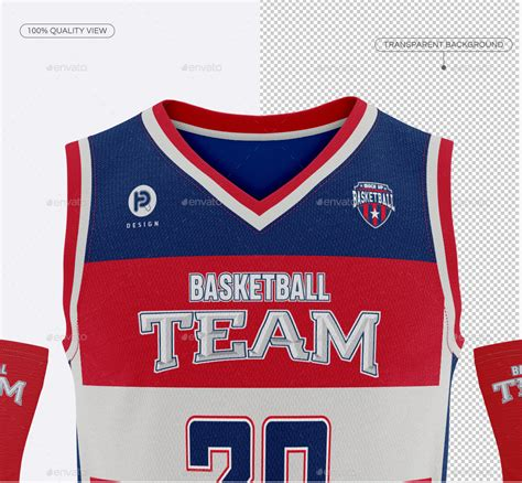 This mockup is available for purchase on yellow images only. Men's Full Basketball Kit V-Neck Jersey Mock-up by ...