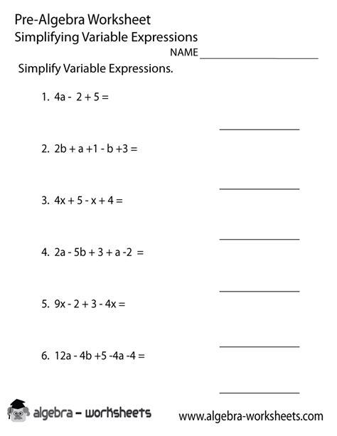 free algebraic expression worksheets goodsnyc