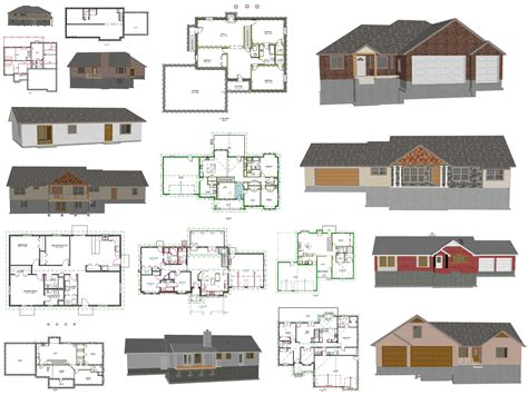 free house blue prints ez house plans