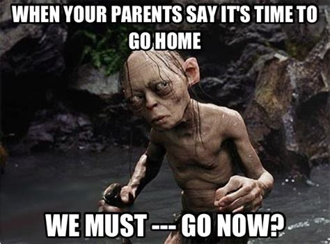 Funny Lord Of The Rings Memes - we must go now smeagol lord of the rings gollum funny meme quotes pinterest so