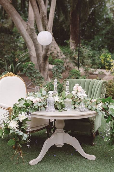 vintage wedding sweetheart table decoration ideas