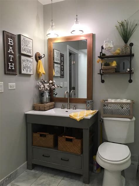 gray bathroom decorating ideas repose gray sw walls and rust oleum chalked country gray