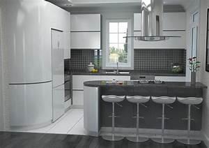 Modele De Cuisine Moderne : modele plan cuisine cuisine en image ~ Melissatoandfro.com Idées de Décoration