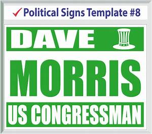 political signs templates With yard sign design template
