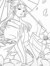 Coloring Beauty Cartoon Poems Anime Drawings sketch template