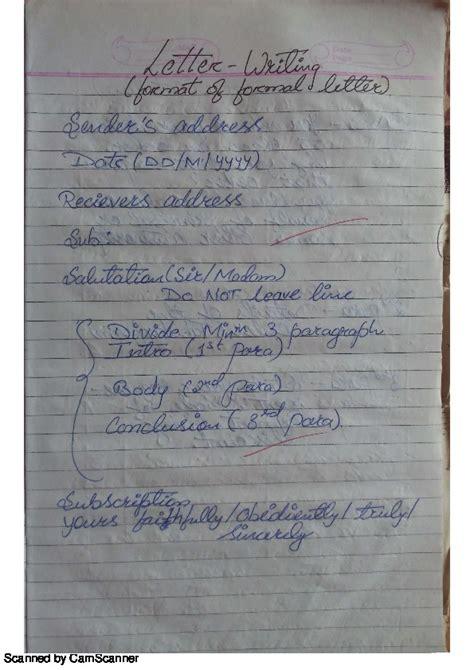 notice formatclass  englishcbse notesgen