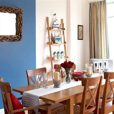Bright nautical dining room   Dining room   Ideal Home