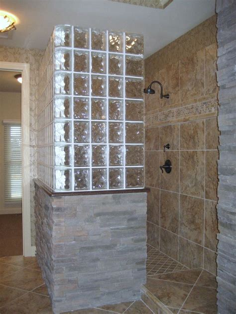 related image glass block shower shower remodel