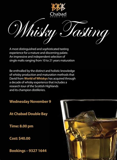whisky tasting chabad double bay
