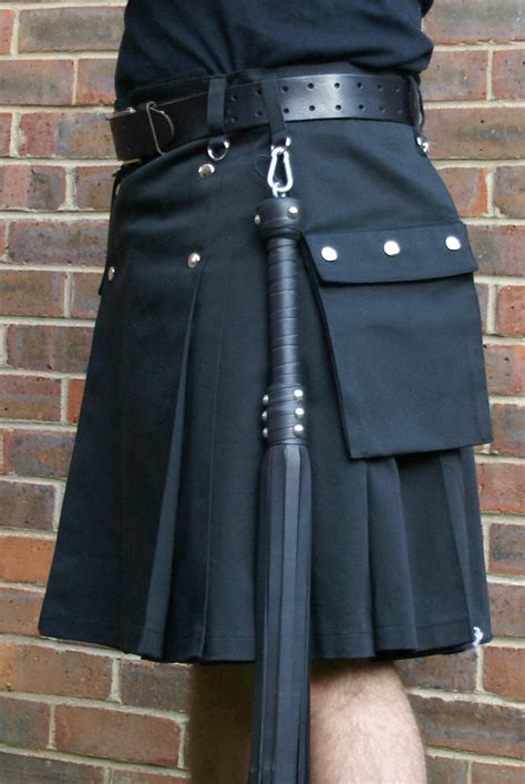 discounted thick black cotton kilts modern kilts for for sale