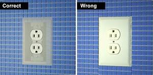 Installing backsplash tiles around outlets mineral tiles for How to lay backsplash around outlets