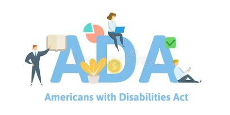 disabilities flat  style stock illustration