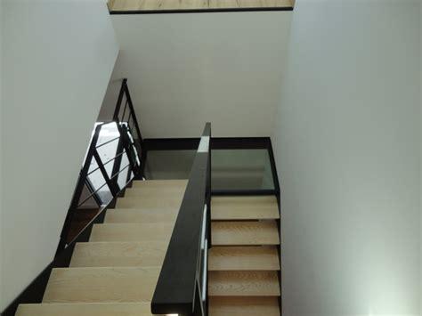 escalier quart tournant avec palier intermediaire escalier acier bois et palier interm 233 diaire verre verri 232 re int 233 rieure contemporain