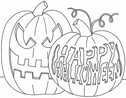 Coloring Halloween Pumpkin Pages Happy Pumpkins Scary