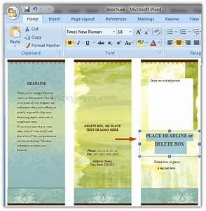 create brochure in word 2007 or 2010 make brochure With how to download brochure template on microsoft word