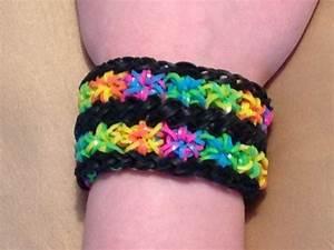 Rainbow Loom Bracelet Double Starburst Cuff by EmzDesignz ...